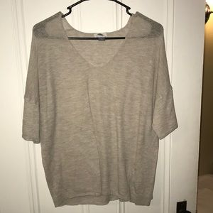 Oatmeal color half sleeve sweater